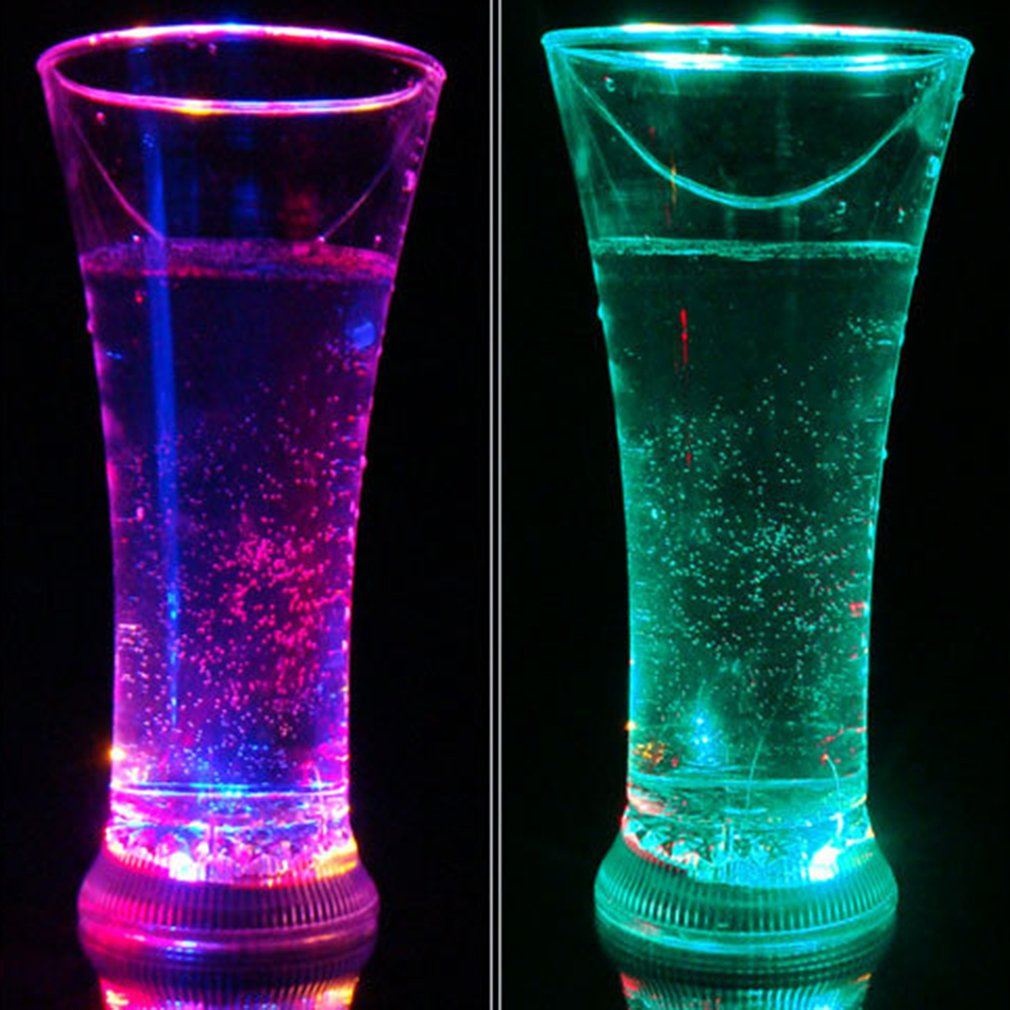 Colorful LED Glowing Cup Flash Water Induction Light Cup Drinking Wine Glasses Juice Cup