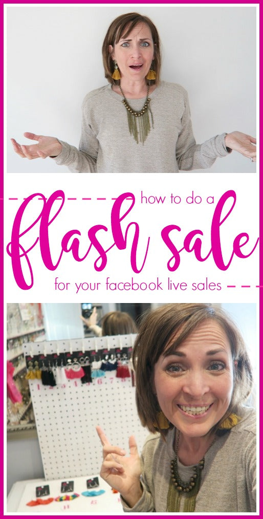 how to do a flash sale paparazzi