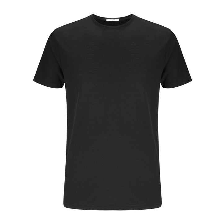 Merino Wool T-Shirt Men Black