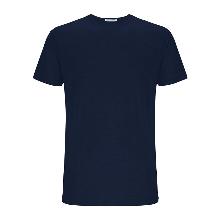 Merino Wool T-Shirt Men Navy