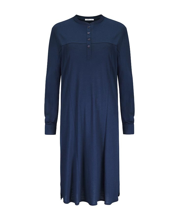 Merino Wool Tunic Women Navy
