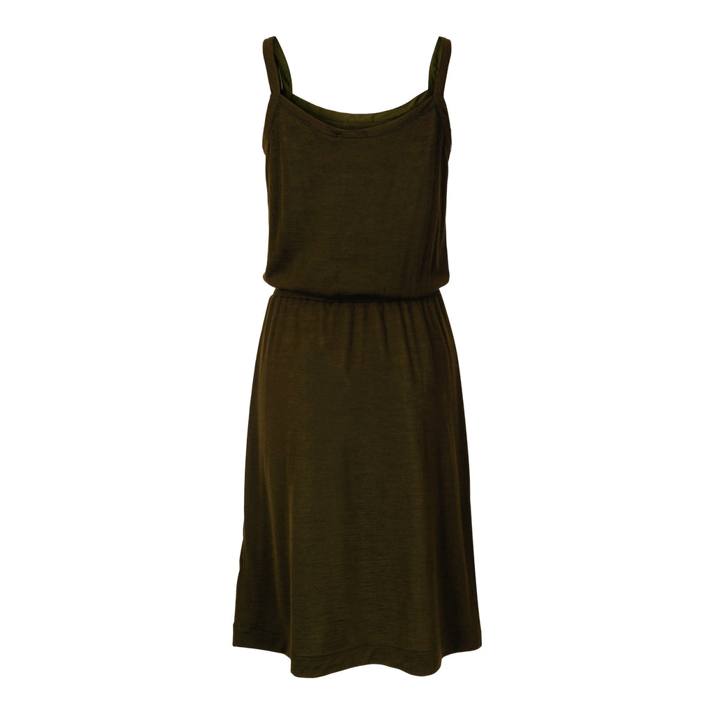 Merino Wool Dress Women Green