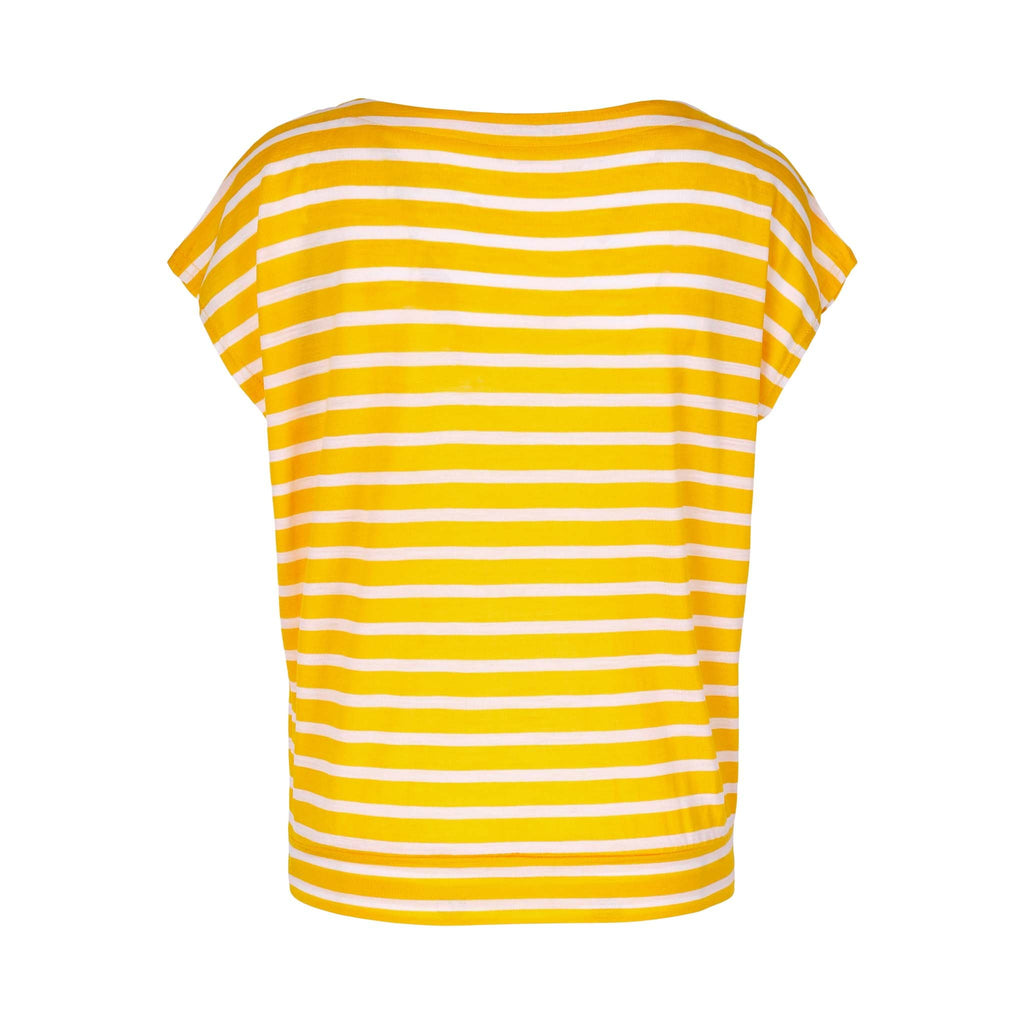 Merino Wool Striped T-Shirt Women Yellow