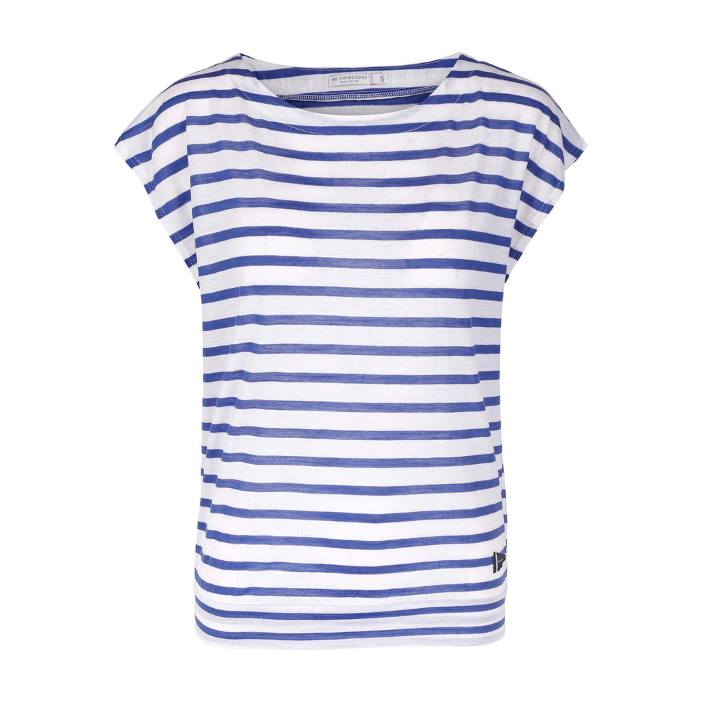 Merino Wool Striped T-Shirt Women White
