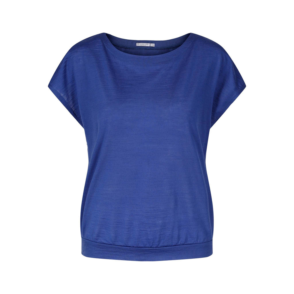 Merino Wool T-Shirt Women Blue