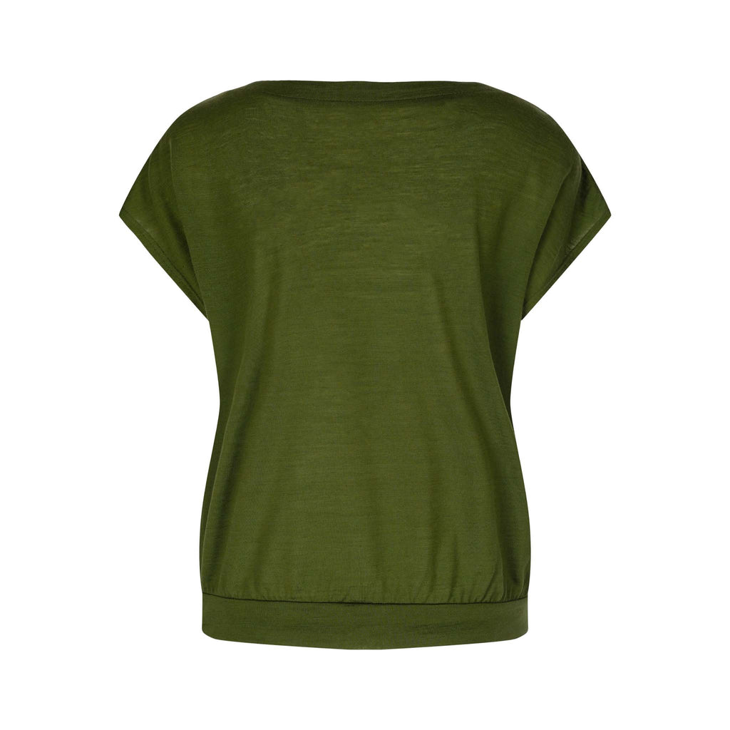 Merino Wool T-Shirt Women Green