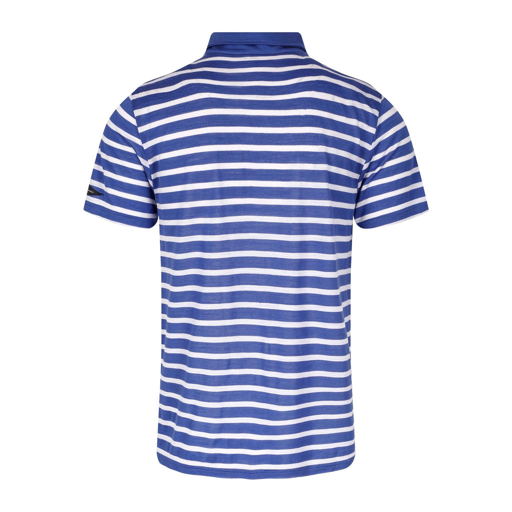 Merino Wool Polo Men White Striped