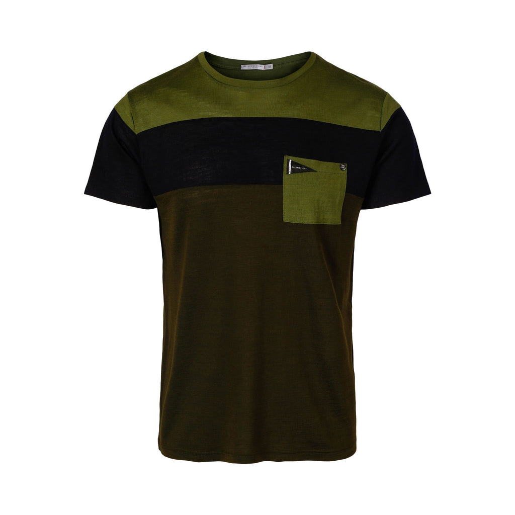 Merino Wool T-Shirt Men Multi Green
