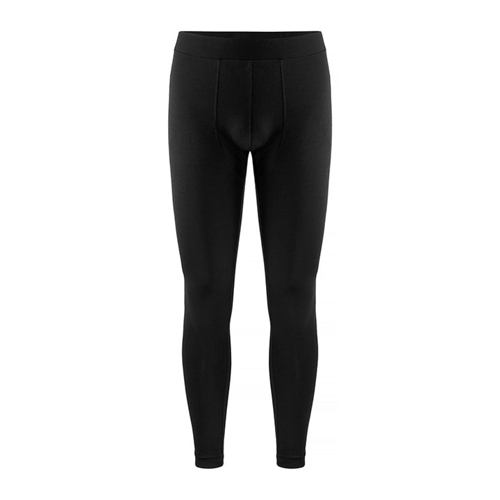 Merino Wool Long Johns Men Black