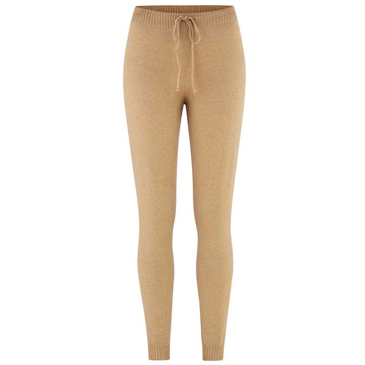 Merino Wool Pants Women Camel