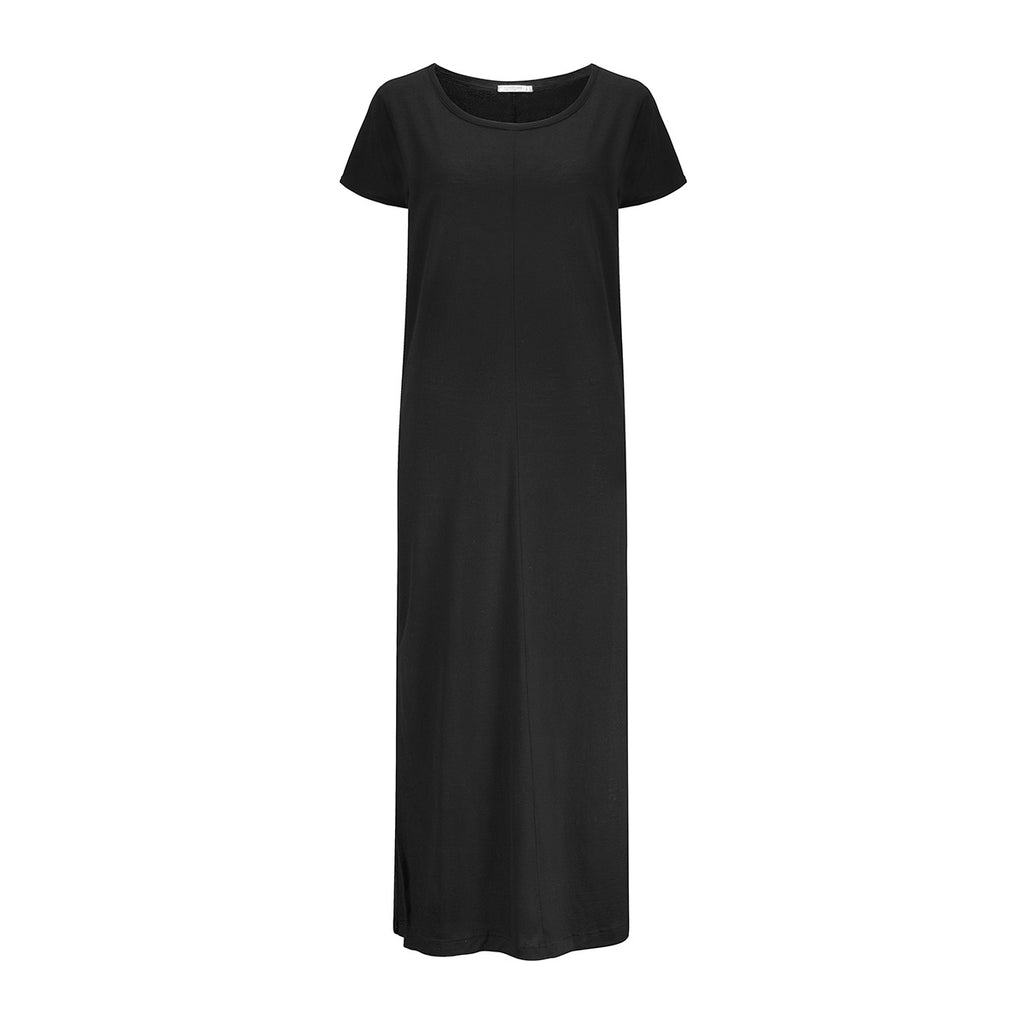 Merino Wool Dress Women Black