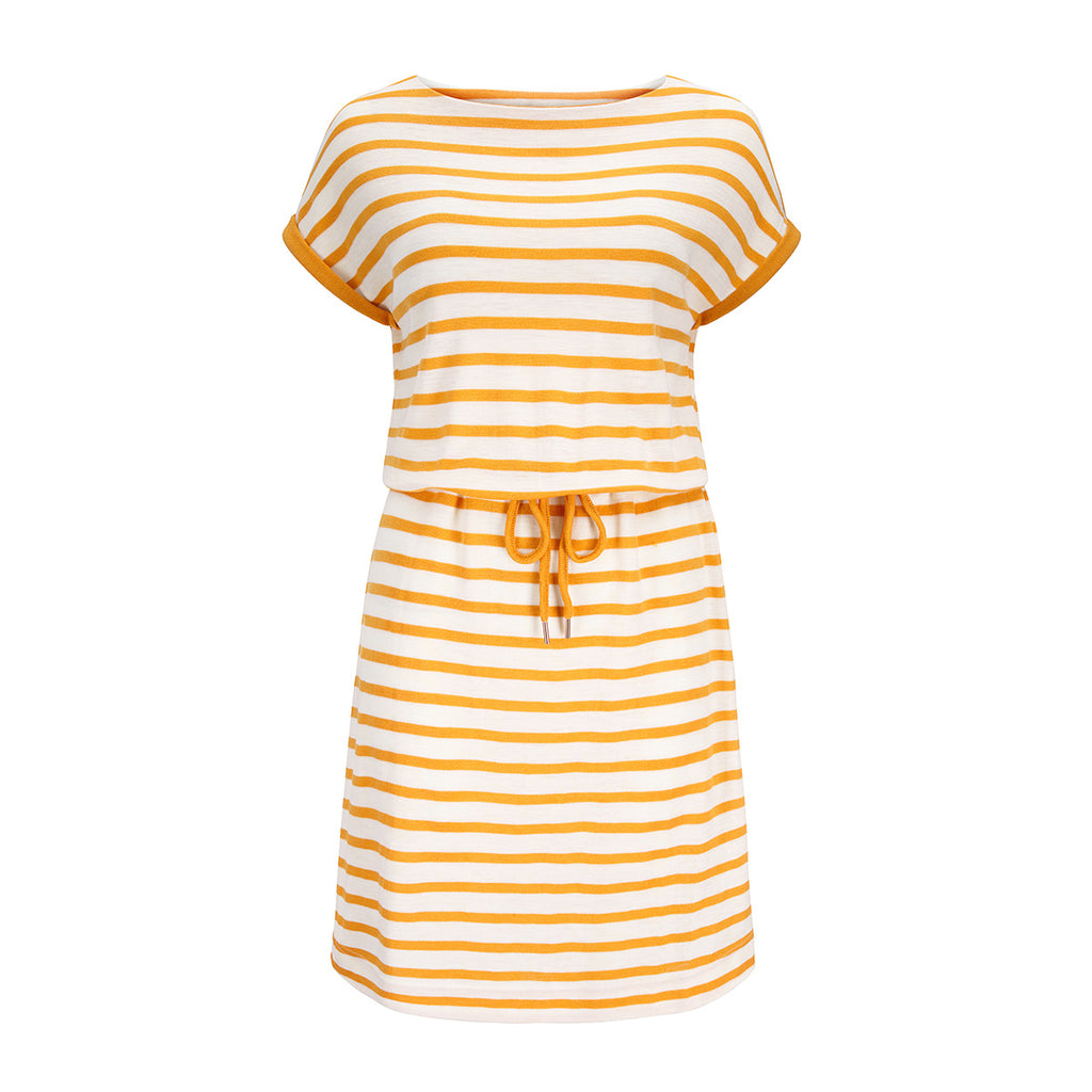 Merino Wool Dress Women Yellow