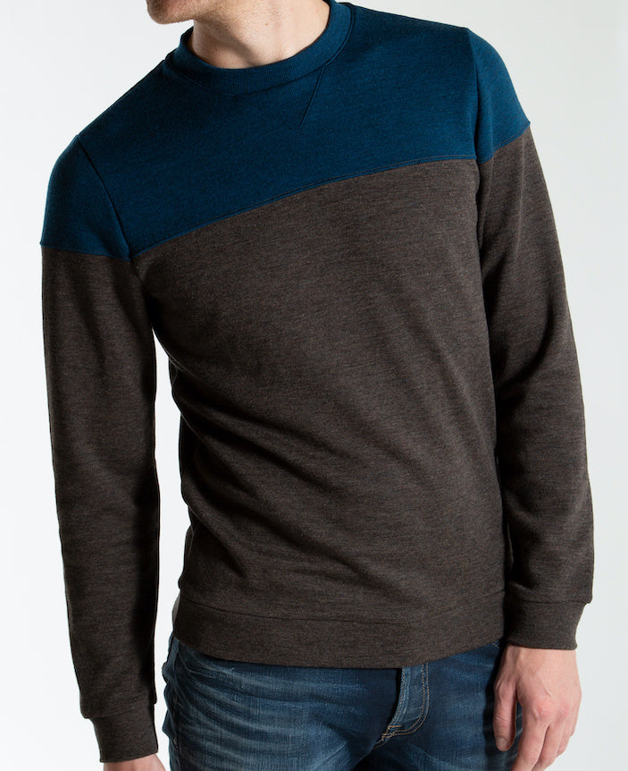 Merino Wool Sweater Men Brown