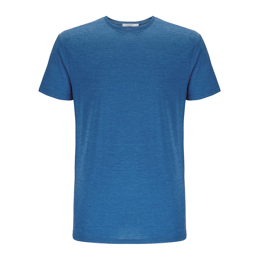 Merino Wool T-Shirt Men Blue
