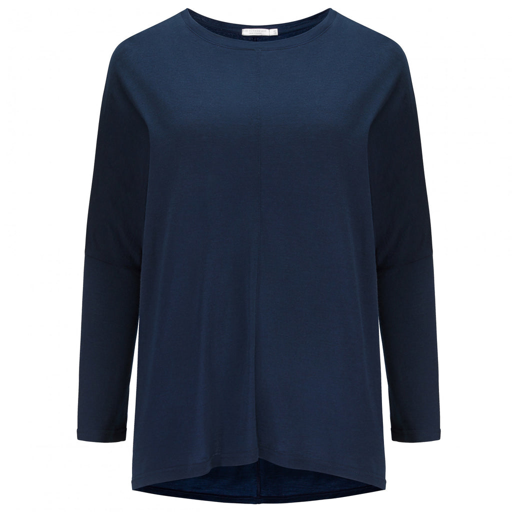 Merino Wool Long Sleeve Women Navy