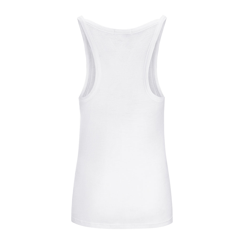 Merino Wool Rib Tank Women White