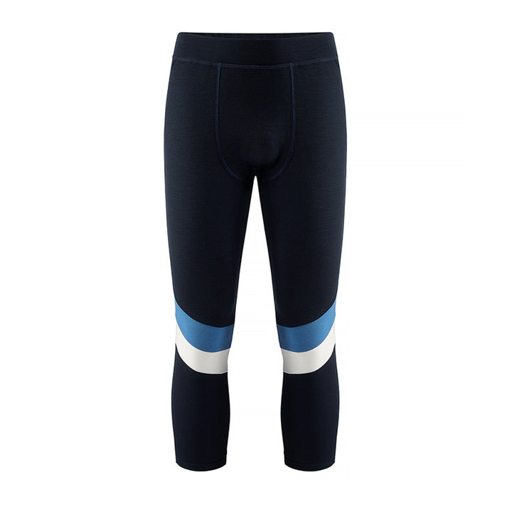 Merino Wool Long Johns Men Blue