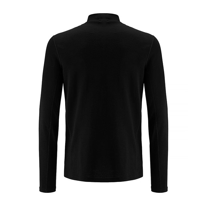 Merino Wool Turtleneck Men Black