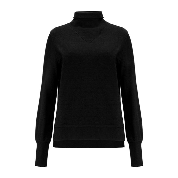 Merino Wool Turtleneck Women Black