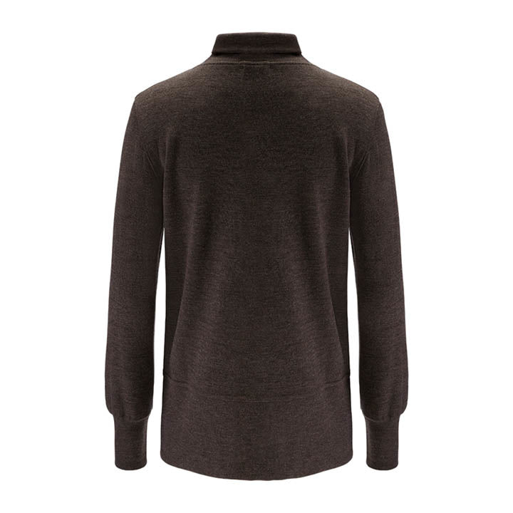 Merino Wool Turtleneck Women Brown