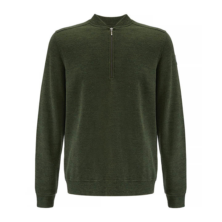 1/4 Zip Pullover Crew Men Green