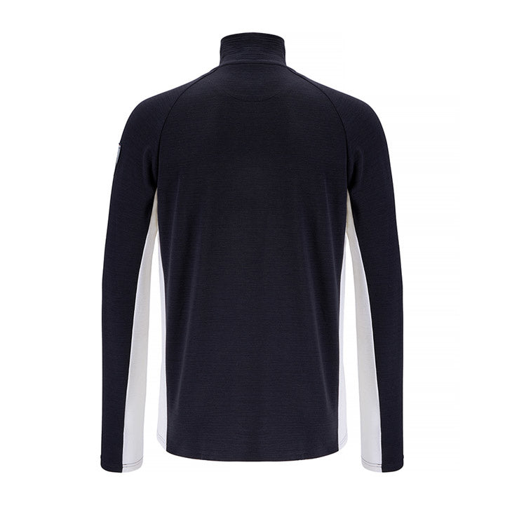 Merino Wool 1/4 Zip Pullover Men Navy
