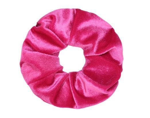 Velvet Scrunchie - Fuschia Pink - Aurina Ltd
