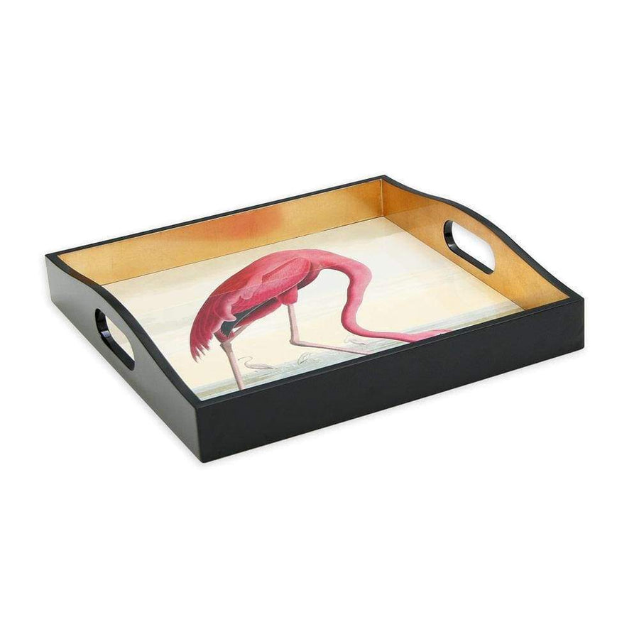 Flamingo Lacquer Square Tray - Aurina Ltd