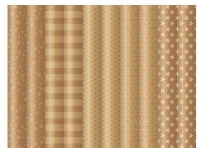 Brown Paper and Gold Print Gift Wrap -  - aurina-ltd-2