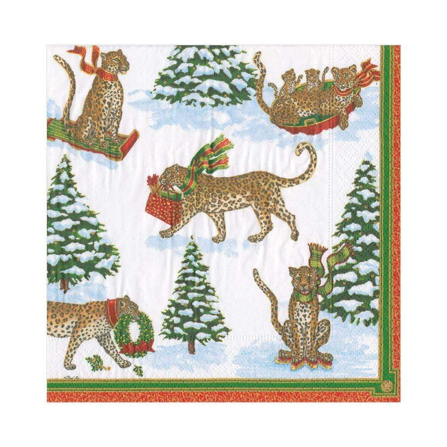 Leopards in the Snow Napkins - Aurina Ltd