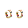 Rainbow Small Hoop Earring - Aurina Ltd