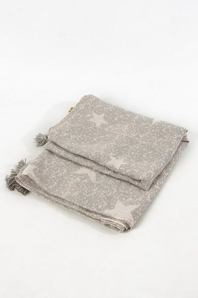 Mottled Star and Tassel Scarf -  - aurina-ltd-2