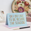Oh Squirrel Seaside Glitter Card - Aurina Ltd