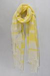 Neon Yellow Stripe Scarf - Aurina Ltd