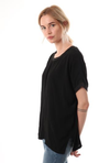 Classic Crepe top with Sparkling Metalic trim -  - aurina-ltd-2