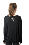 Simple Long Sleeve Tee with Star Detail -  - aurina-ltd-2