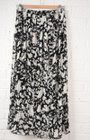 Black and White Animal Print Skirt - Aurina Ltd