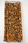 Mustard Animal Print Skirt - Aurina Ltd
