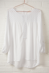 White Broderie Anglaise Style Top - Aurina Ltd