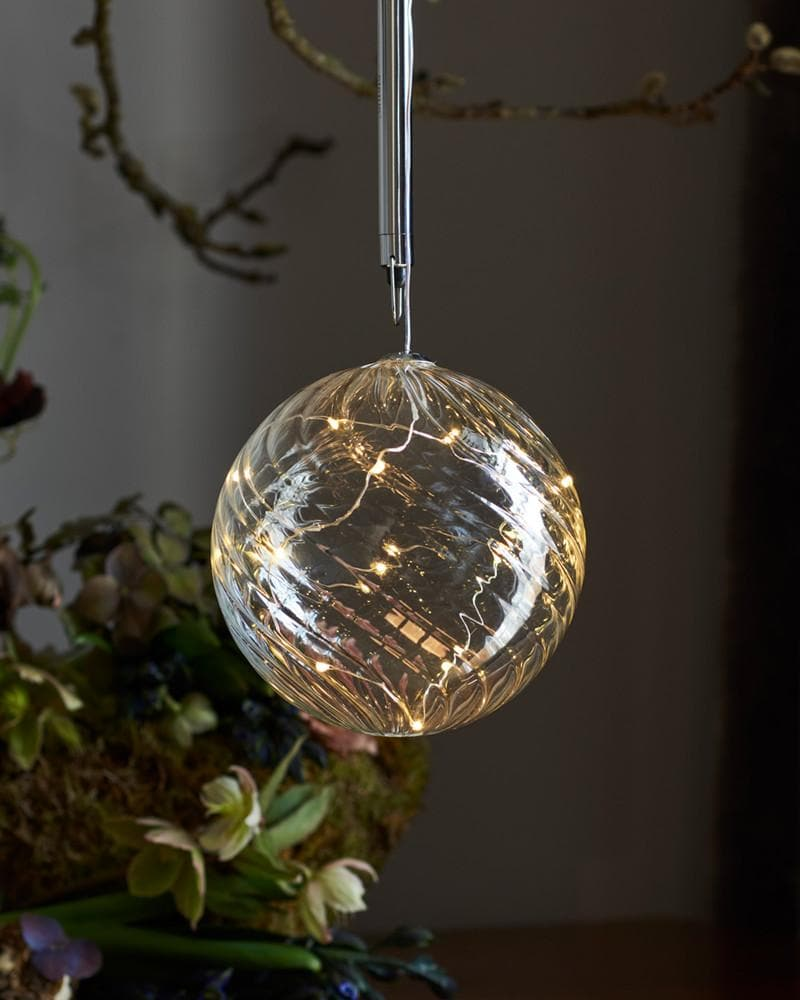 Glass Ball Decoration with LED Lights