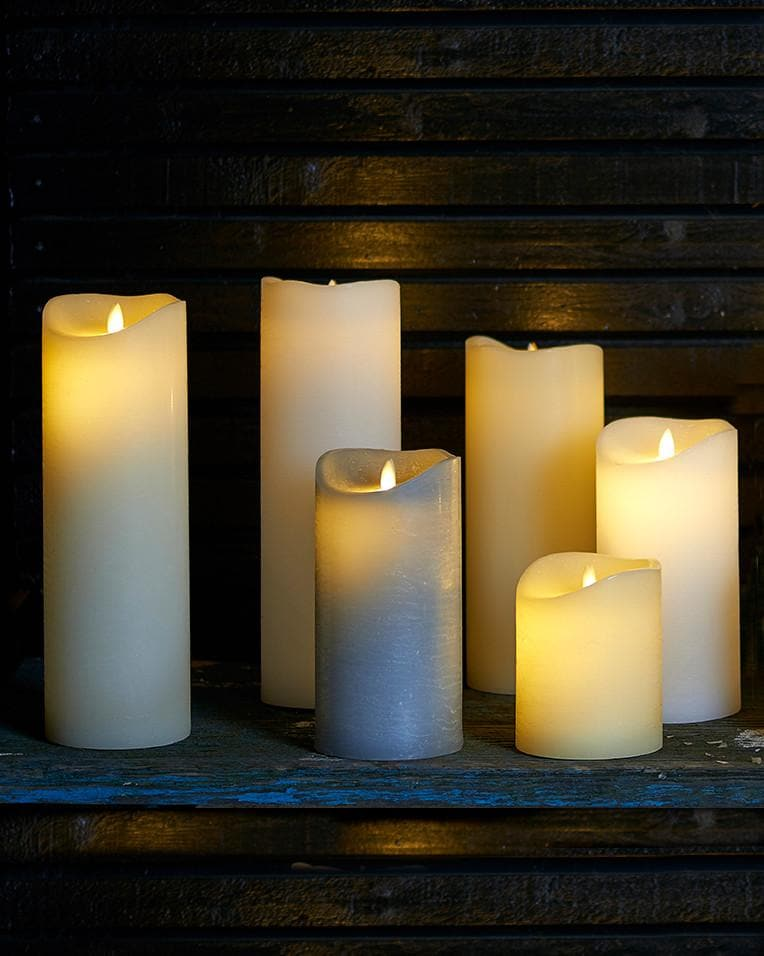 LED Pillar Candle - Medium - Aurina Ltd