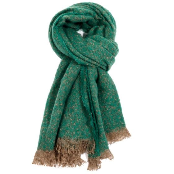 Bright Green Plain Scarf