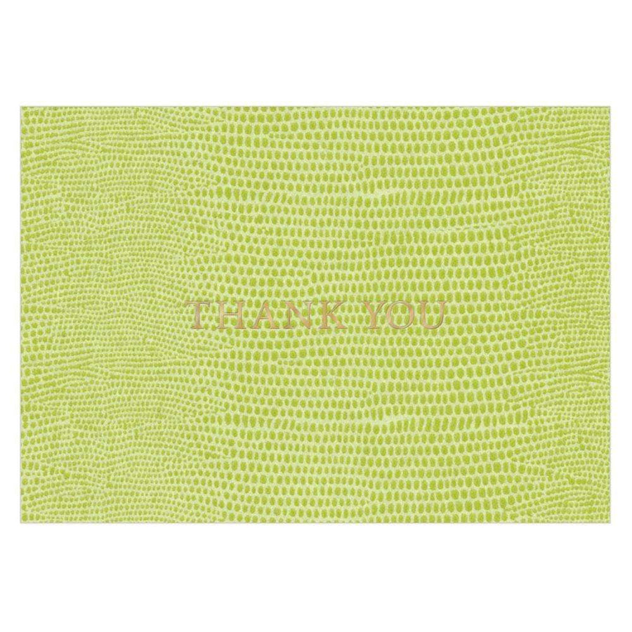 Lizard Print Thank You Notes - Aurina Ltd