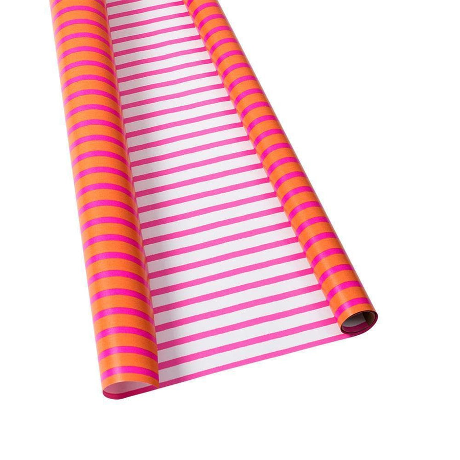"Wrapping Paper - Coral & Pink Bretagne - 30"" x 5' - Aurina Ltd"
