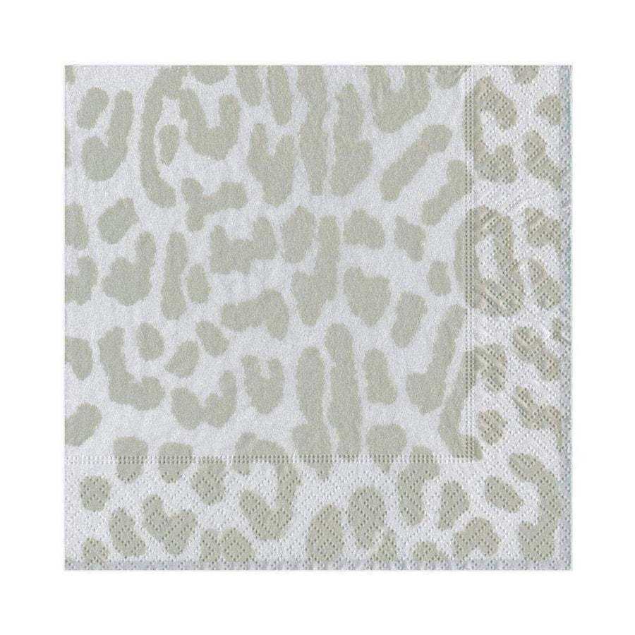 Zanzibar Silver Animal Print Napkins - Aurina Ltd
