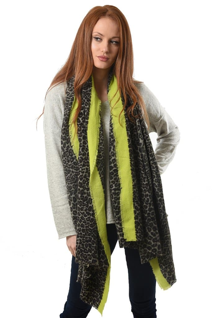 Colour Pop Leopard Blanket Scarf - Aurina Ltd