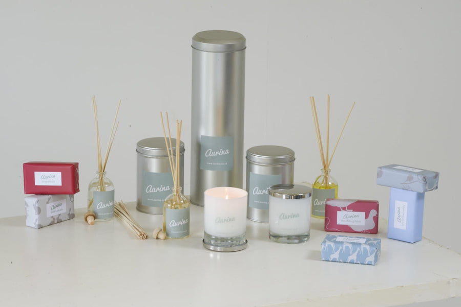 Lemongrass & Rosemary Candle - Aurina Ltd