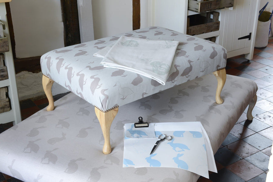 Aurina Upholstered Footstool - Aurina Ltd