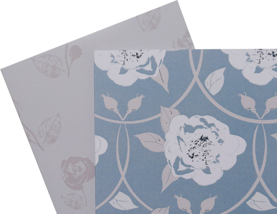 Peony and Rose Note cards - Aurina Ltd
