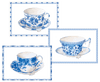 Tea Cups Boxed Note Cards - 8 Note Cards & 8 Envelopes - Aurina Ltd